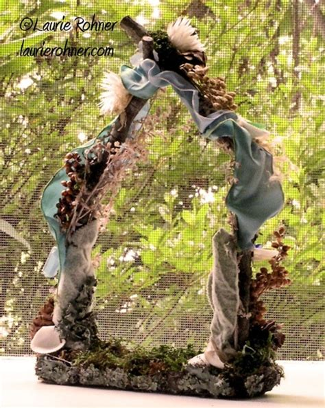 Handcrafted Fairies - gate garden fairies house arbor handcrafted woodland