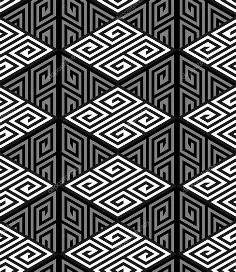 zigzag hole pattern 3d zig zag cube holes op art vector seamless pattern
