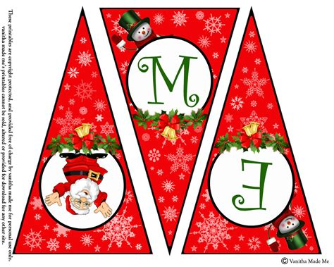 Merry Christmas Printable Banners Happy Holidays Merry Banner Template