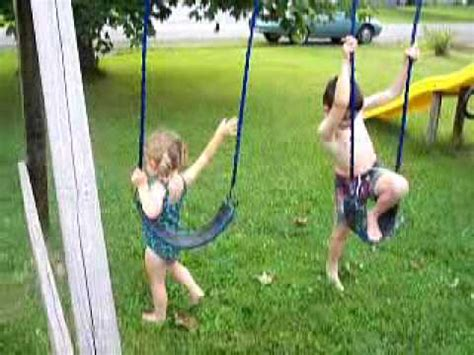 kid swing on swings