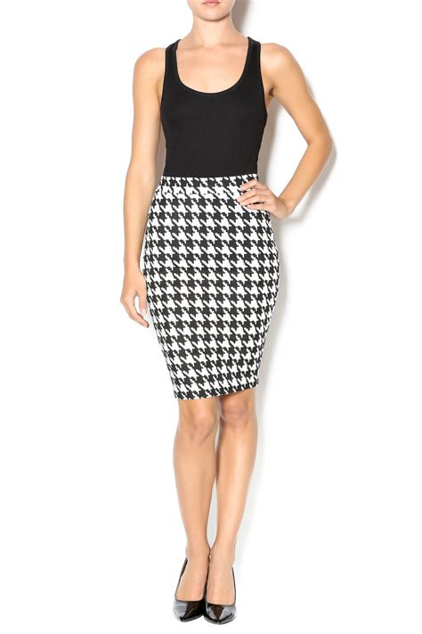 Crop Top 40450 Us S M by Top 10 Houndstooth Pencil Skirt From Alabama By Flaunt