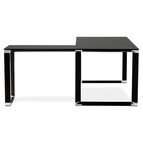 bureau angle verre noir bureau d angle design quot hovik quot verre noir