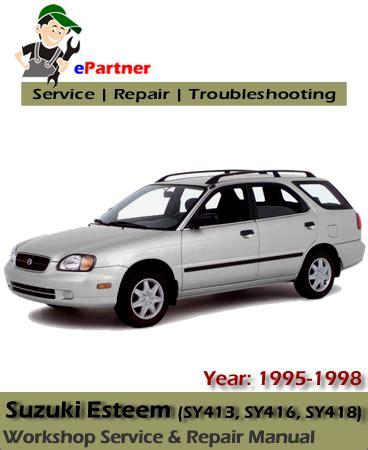 manual repair autos 1995 suzuki esteem engine control 1998 suzuki esteem troubleshooting repair maintenance html autos weblog