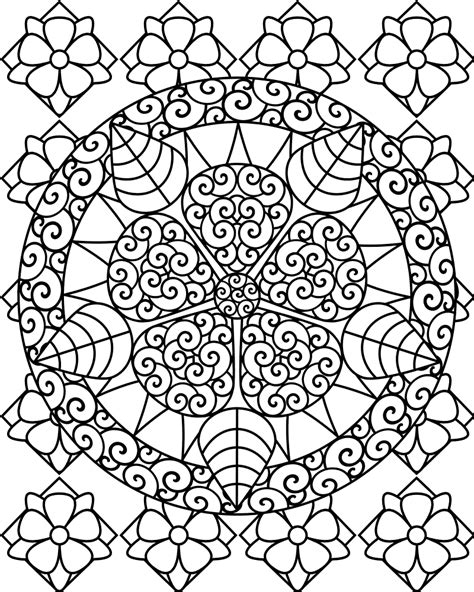 coloring pages for adults abstract flowers free printable abstract coloring pages for
