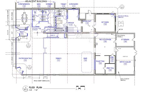 microbrewery floor plan north abbey brewing company cox associates architects