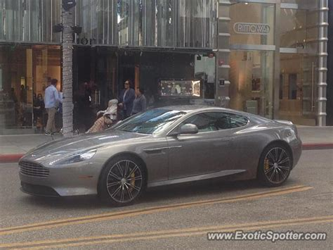 aston martin db9 spotted in beverly california on