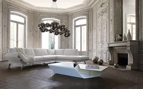inneneinrichtung wohnzimmer seance sofa roche bobois collection 2011 design sacha lakic