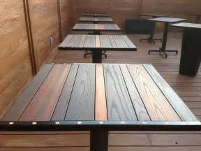 Hop patio patio table top industrial table tops and bases