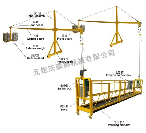 swing stage scaffold facade cleaning equipment floating platform gondola hoist