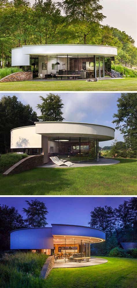 circular house  built   hillside contemporist