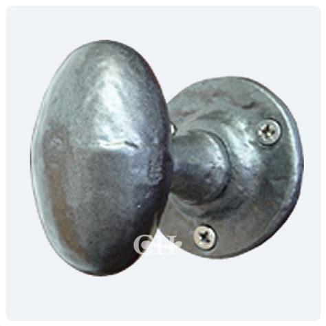 Pewter Knobs by Kirkpatrick 1550 Oval Door Knobs In Black Argent Or Pewter