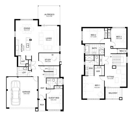 luxury sle floor plans 2 story home new home plans design