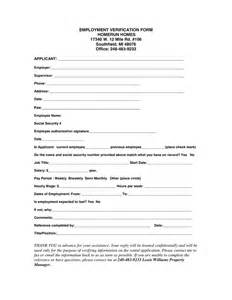 Work Verification Form Template by Employment Verification Form In Word And Pdf Formats