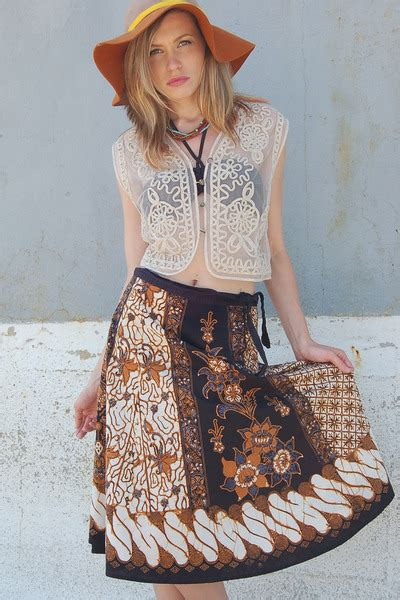 Batik Ethnic Skirt batik lotus vintage skirts quot vintage 80s ethnic batik wrap skirt quot by lotusvintage chictopia