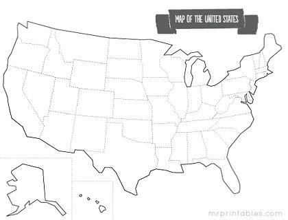 printable united states map new calendar template site united states map of the states blank new calendar