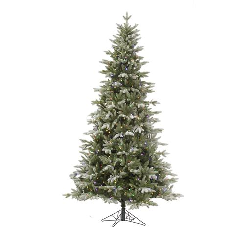 frosted tree lights vickerman frosted balsam 7 5 green fir artificial