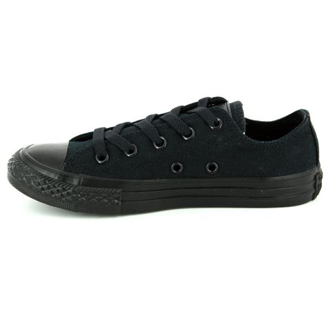 Converse Mono Ox Black 2 converse 314786c chuck ox black mono trainers