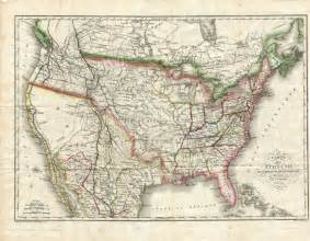 antique united states map for sale