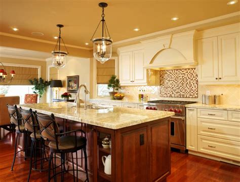 french country kitchen island lighting the interior