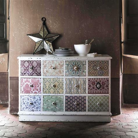 Maison Du Monde Vannes 5242 by Beautiful Cabinet De Rangement Imprim En Bois Blanc L Cm