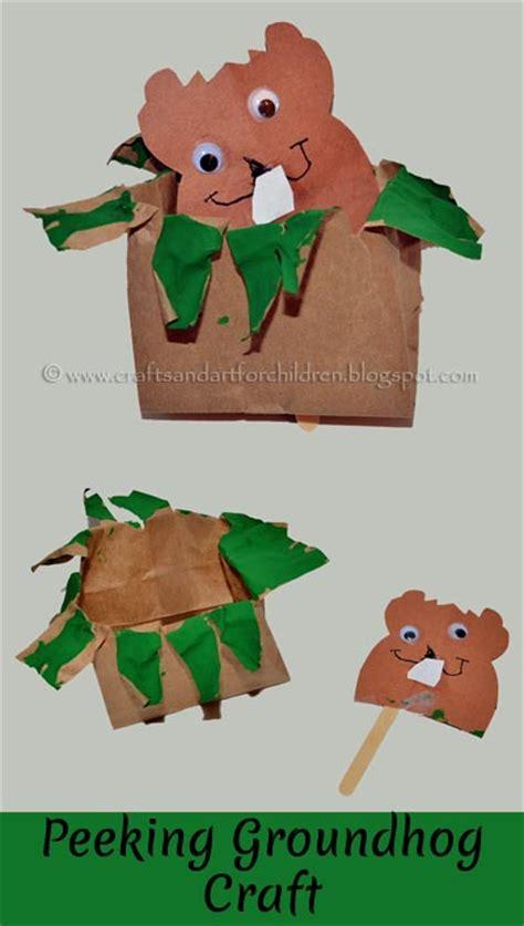 groundhog crafts for paper bag groundhog craft artsy momma