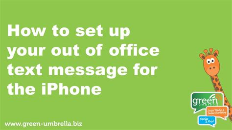 Out Of Office Message Iphone by How To Set Up Your Out Of Office Text Message For The