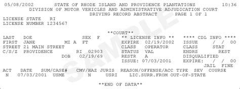 Drivers License Records Driver S License Record