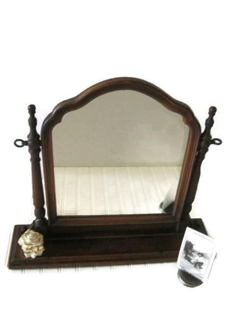 vintage table top mirror vintage table top dresser mirror with wood swing frame
