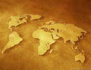 flattened world map