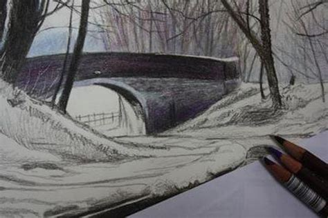 how to draw landscapes coloured pencil demonstration the four counties boat trip tutor