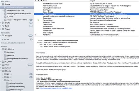 Workflow Series Pt 8 Organizing Your Emails Phoenix Scottsdale Charleston Nantucket Italy Free Email Templates For Portrait Photographers