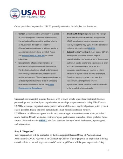 Usaid Guide To Grantand Contract Process Usaid Branding And Marking Template