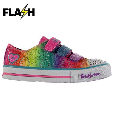 Skechers Unicorn by Skechers Twinkle Toes Rainbow Colour Contrasting