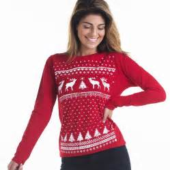 women reindeer christmas jumper styled longsleeve tee by