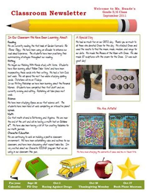 great newsletter templates my new classroom newsletter