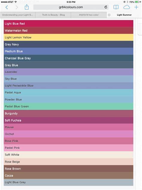 Light Summer Color Palette by 43 Best Images About Summer Palette On