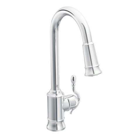 moen single hole kitchen faucet moen showhouse s7208c woodmere single handle hole high arc