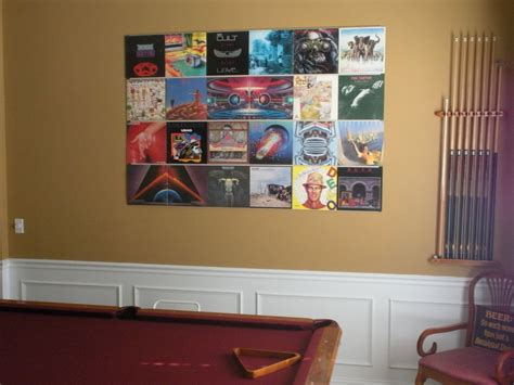 vinyl record room decor hang up your vinyl records 3 steps