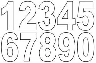 Number Stencil Templates Free by 5 Best Images Of Numbers 1 9 Printable Sheet Number