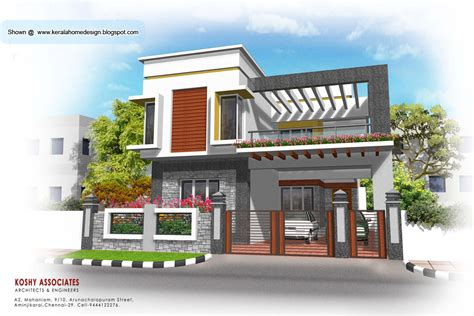 house elevations modern house plan 2320 sq ft kerala home design and