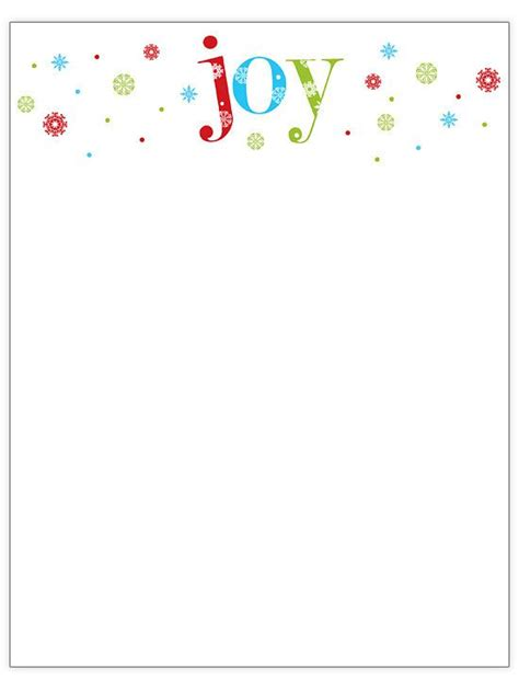 free christmas stationery and letterheads you can print