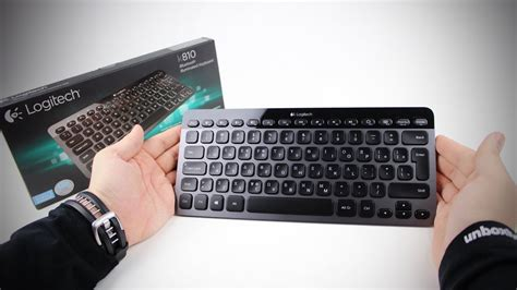 Keyboard Logitech K810 logitech k810 bluetooth illuminated keyboard unboxing review