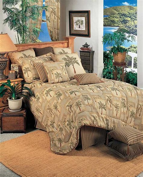 tropical king comforter sets palm grove tropical king size comforter set from the