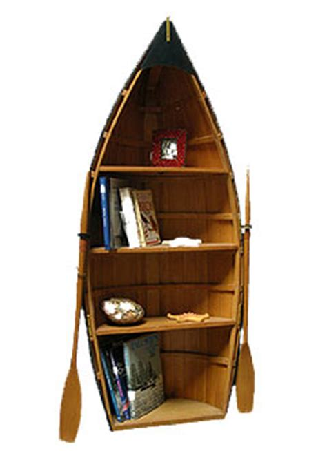 boat shaped bookcase