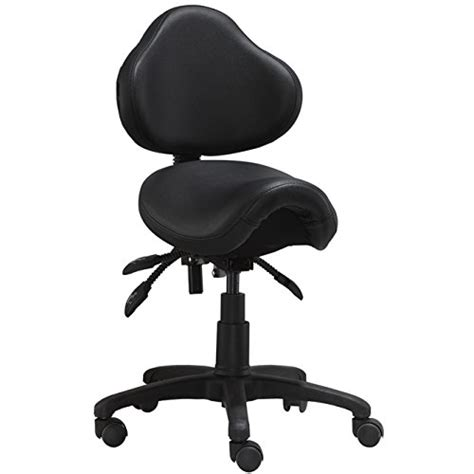 Saddle Chair With Back Support by Best Price 2xhome Ergonomic Adjustable Rolling Saddle