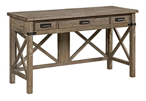 weathered wood writing desk rustic weathered gray desk with keyboard drawer and