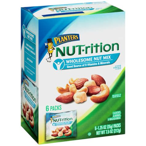 planters nut rition wholesome nut mix 1 25 oz 6 count