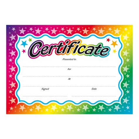 colourful children s certificates brainwaves