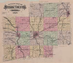 Ohio Township Map by Canton Ohio Railroads