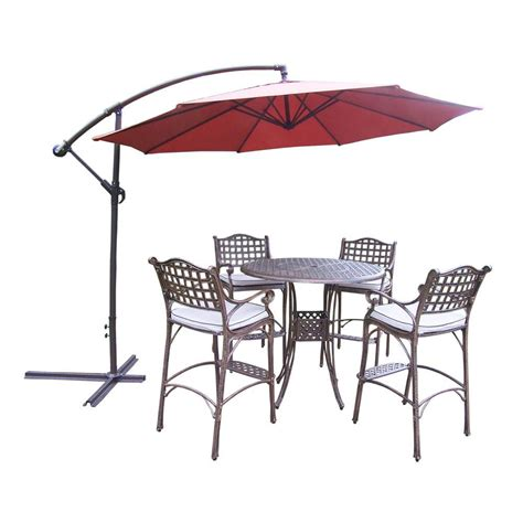 piece patio dining set cusions orig free pickup on hton oakland living elite cast aluminum 6 piece round patio bar